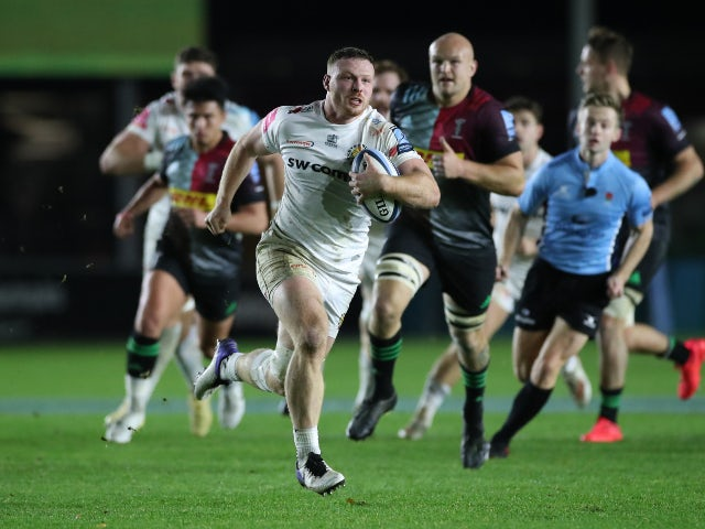 Result: Sam Simmonds bags hat-trick as Exeter sweep aside Harlequins