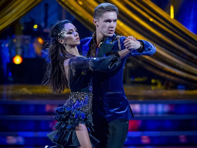 HRVY and Janette Manrara on Strictly Come Dancing week five on November 21, 2020