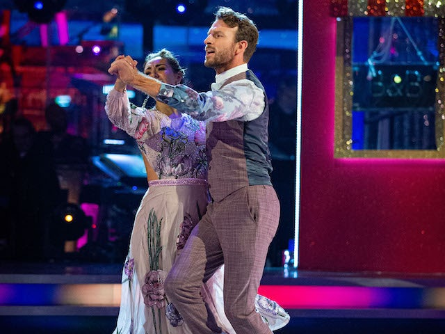 JJ Chalmers and Amy Dowden on Strictly Come Dancing week five on November 21, 2020