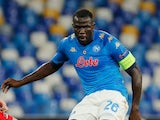 Napoli defender Kalidou Koulibaly pictured in October 2020
