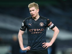 Potty mouth Kevin De Bruyne in action for Manchester City on November 21, 2020