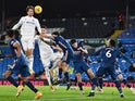 Leeds United's Patrick Bamford in action against Arsenal in the Premier League on November 22, 2020