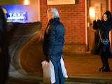 Ken confronts the bulldozer on Coronation Street on December 9, 2020