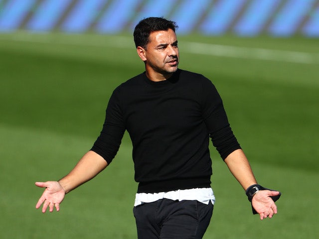 Huesca manager Michel pictured in October 2020