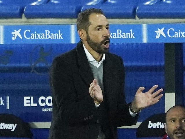 Alaves manager Pablo Machin pictured in October 2020