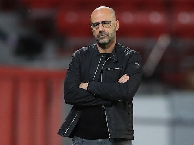 Bayer Leverkusen manager Peter Bosz pictured in October 2020