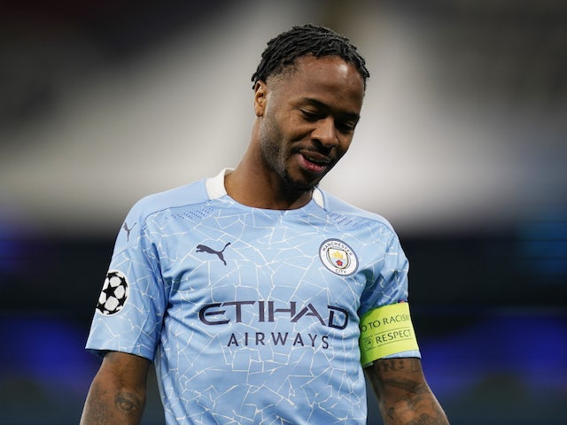 Manchester City forward Raheem Sterling pictured in October 2020