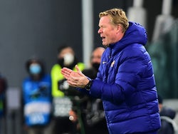 Barcelona manager Ronald Koeman pictured in October 2020