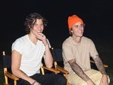 Shawn Mendes and Justin Bieber on set for new song Monster