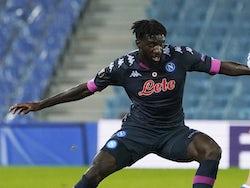 Tiemoue Bakayoko in action for Napoli in October 2020