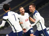 Giovani Lo Celso celebrates after scoring for Tottenham Hotspur against Manchester City in the Premier League on November 21, 2020