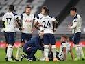 Tottenham Hotspur's Toby Alderweireld goes down injured against Manchester City in the Premier League on November 21, 2020
