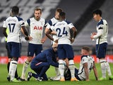 Tottenham Hotspur's Toby Alderweireld goes down injured against Manchester City in the Premier League on November 21, 2020