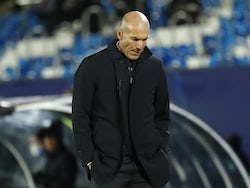 Real Madrid manager Zinedine Zidane pictured in November 2020