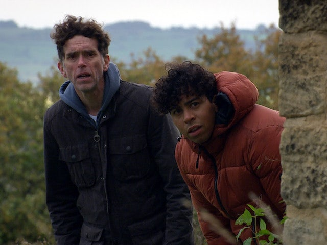 Marlon and Ellis on the second episode of Emmerdale on December 17, 2020