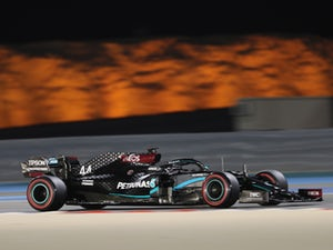 Stray dog interrupts Bahrain qualifying as Lewis Hamilton sets pace