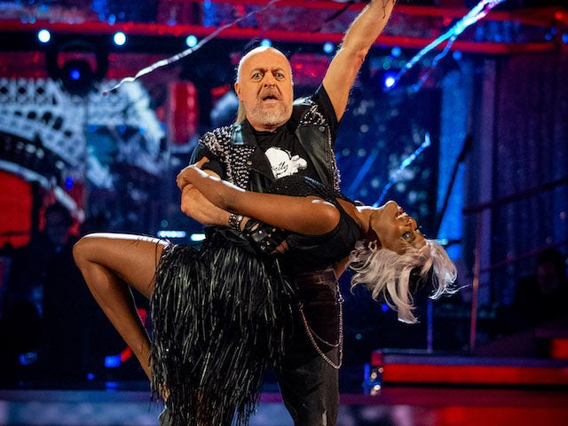 Bill Bailey and Oti Mabuse on Strictly Come Dancing week six
