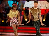 Clara Amfo and Aljaz Skorjanec on Strictly Come Dancing week six
