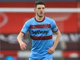 Declan Rice in action for West Ham United on November 22, 2020
