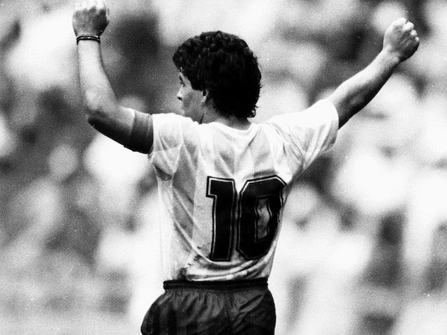 Diego Maradona's 'Hand of God' shirt held in Manchester - Sports Mole