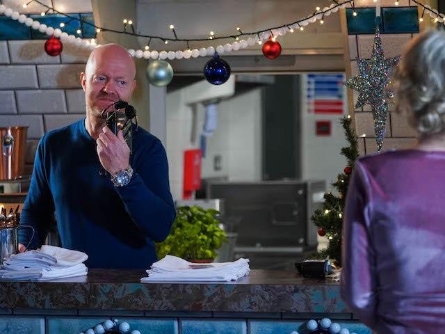 Max on EastEnders on December 14, 2020