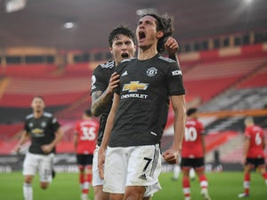 Cavani brace helps Man United to comeback victory at Southampton