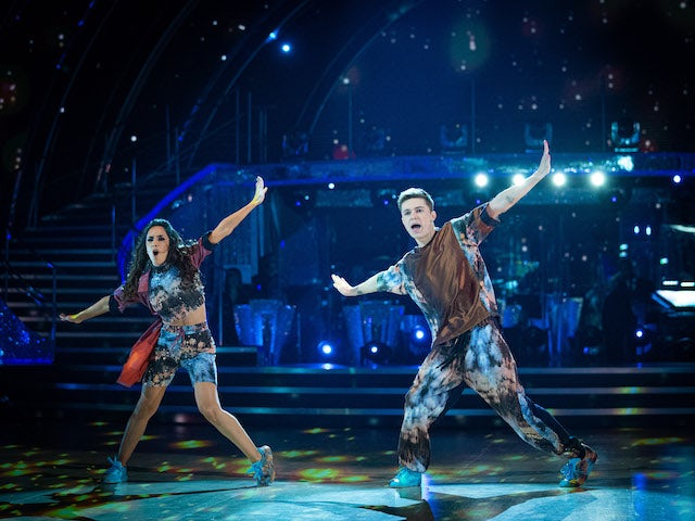 HRVY and Janette Manrara on Strictly Come Dancing week six