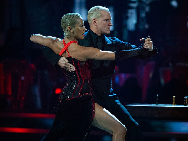 Jamie Laing and Karen Hauer on Strictly Come Dancing week six
