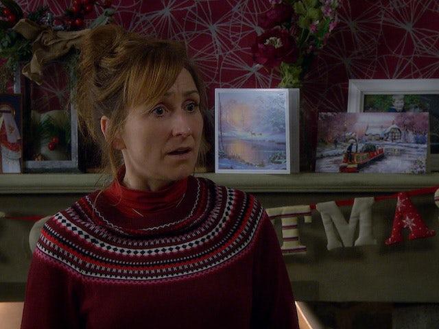 Laurel on the first episode of Emmerdale on December 10, 2020