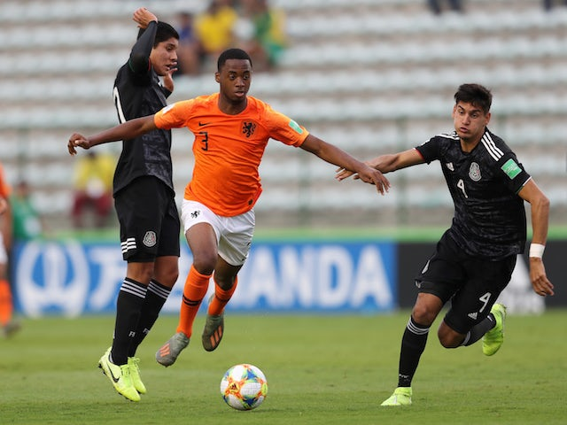 Netherlands defender Melayro Bogarde in action at the Under-17s World Cup on November 14, 2019
