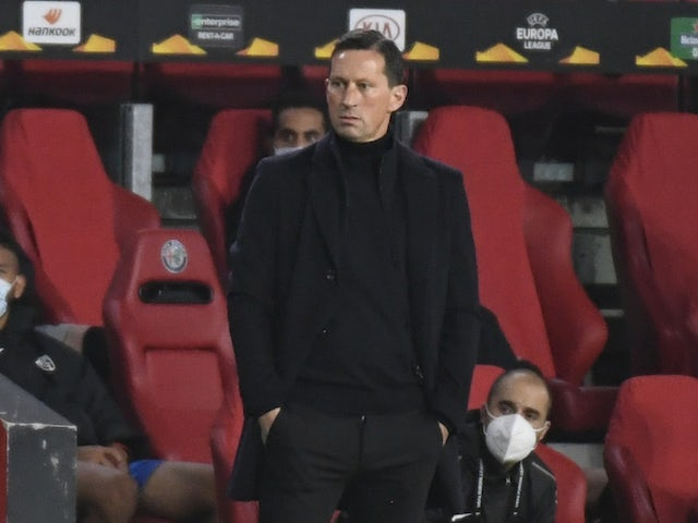 PSV Eindhoven head coach Roger Schmidt pictured in October 2020