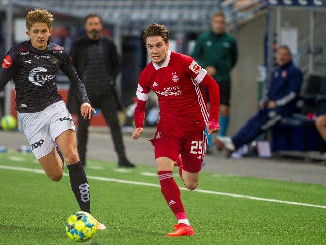 Scott Wright pictured for Aberdeen against Viking FK in September 2020