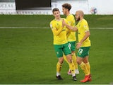 Teemu Pukki celebrates after scoring for Norwich City against Stoke City in the Championship on November 24, 2020