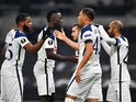 Tottenham Hotspur's Carlos Vinicius celebrates scoring against Ludogorets Razgrad in the Europa League on November 26, 2020