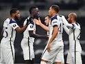 Tottenham Hotspur's Carlos Vinicius celebrates scoring against Ludogorets Razgrad in the Europa League on November 26, 2020