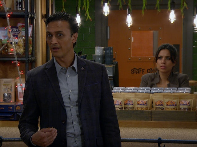 Jai and Priya on the second episode of Emmerdale on December 3, 2020