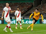 Pedro Neto in action for Wolverhampton Wanderers against Southampton in the Premier League on November 23, 2020