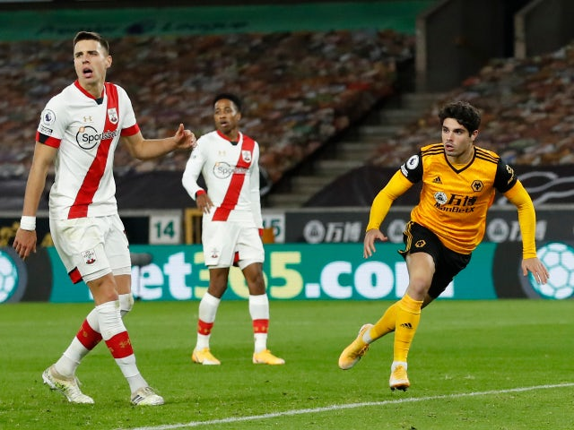 Result: Pedro Neto cancels out Theo Walcott opener as Wolves draw with Southampton