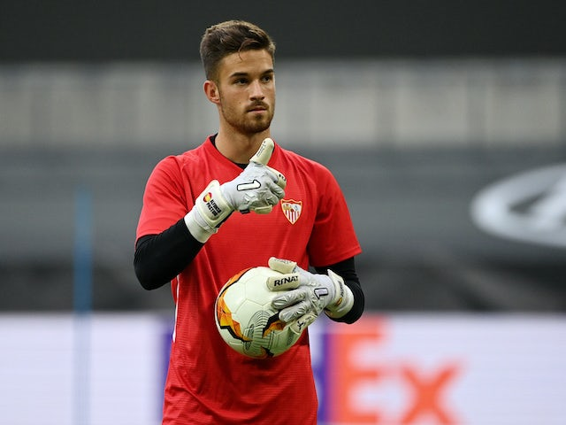 Alfonso Pastor in Sevilla training on August 15, 2020