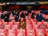 Fans back in the Emirates Stadium for Arsenal's Europa League clash with Rapid Vienna on December 3, 2020