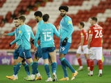 Bournemouth's Philip Billing celebrates scoring against Barnsley in the Championship on December 4, 2020