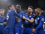 Kurt Zouma celebrates scoring for Chelsea against Leeds United in the Premier League on December 5, 2020