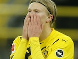 Erling Braut Haaland in action for Borussia Dortmund on November 28, 2020