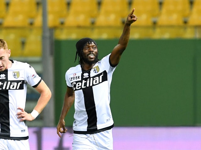 Gervinho in action for Parma in June 2020