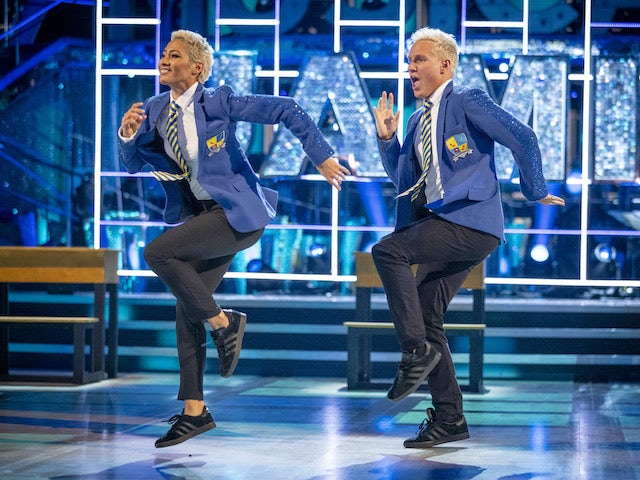 Jamie Laing and Karen Hauer on Strictly Come Dancing week seven