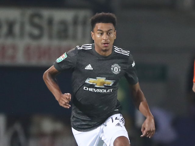 Manchester United midfielder Jesse Lingard pictured in September 2020