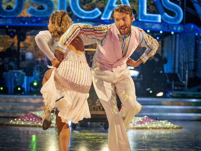 JJ Chalmers and Amy Dowden on Strictly Come Dancing week seven