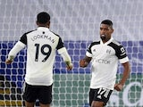 Ivan Cavaleiro celebrates after scoring for Fulham against Leicester City in the Premier League on November 30, 2020