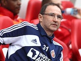 Martin O'Neill pictured as Sunderland manager in 2013