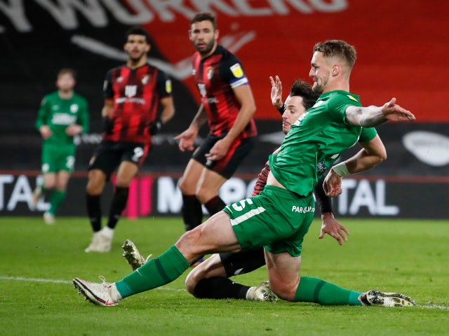 Patrick Bauer scores for Preston against Bournemouth in the Championship on December 1, 2020